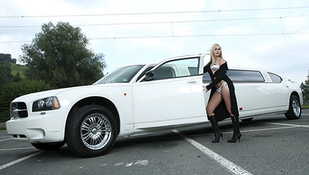 Model Fotoshooting, Stretchlimousine